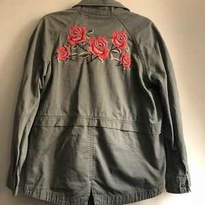 Style & Co Embroidered Cargo Jacket
